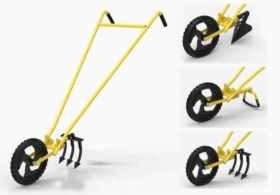 Cono Weeder + 3 Tooth Cultivator for Agriculture use